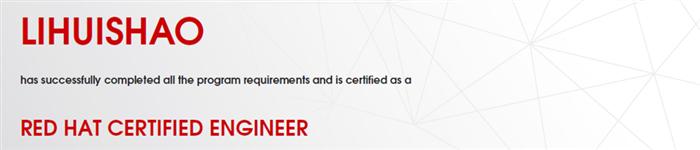 捷讯:李惠少6月27日北京顺利通过RHCE认证。