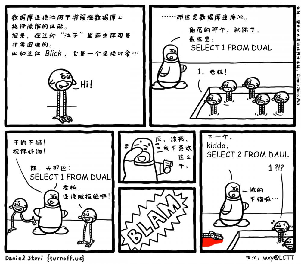 极客漫画:数据库链接池中的生生死死