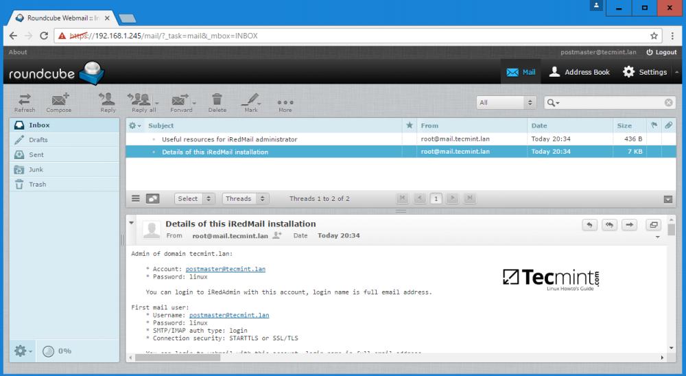 Samba 系列(十):如何在 CentOS 7 上安装 iRedMail 集成到 Samba4 AD