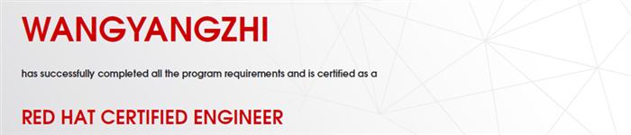 捷讯:王杨智6月21日上海顺利通过RHCE认证。