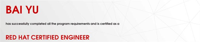 捷讯:白玉6月6日上海顺利通过RHCE认证。