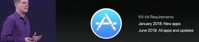 苹果从明年起开始淘汰32位Mac OS应用