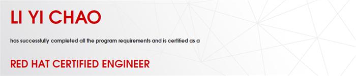 捷讯:李毅超7月29日上海顺利通过RHCE认证。