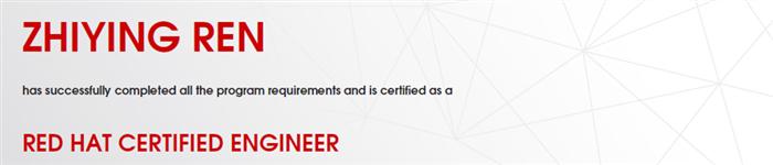 捷讯:任志颖7月26日上海顺利通过RHCE认证。