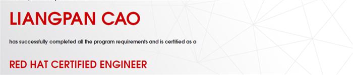 捷讯:曹良攀7月21日北京顺利通过RHCE认证。