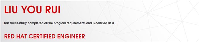 捷讯:刘有瑞7月22日北京高分通过RHCE认证。