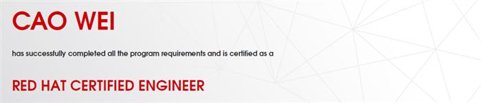 捷讯:曹威8月31日北京顺利通过RHCE认证。