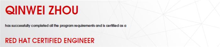 捷讯:周钦伟8月22日上海顺利通过RHCE认证。