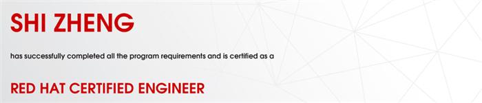 捷讯:石征8月24日上海顺利通过RHCE认证。
