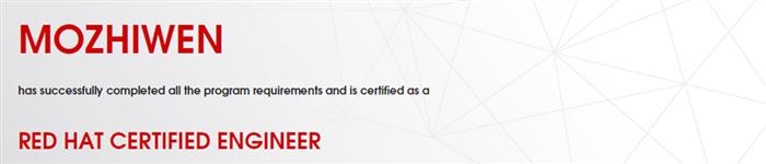 捷讯:莫志文8月18日北京顺利通过RHCE认证。