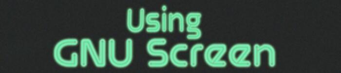 screen 命令使用