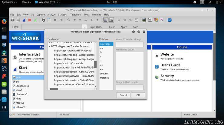 如何在Wireshark确定数据集?如何在Wireshark确定数据集?
