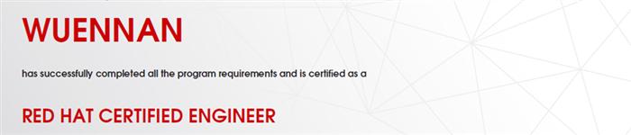 捷讯:武恩楠9月25日北京顺利通过RHCE认证。