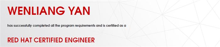 捷讯:闫文亮9月5日北京顺利通过RHCE认证。
