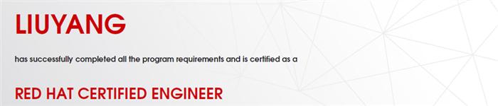 捷讯:刘洋9月20日广州顺利通过RHCE认证。