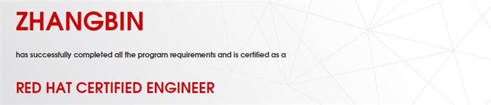 捷讯:张斌9月18日北京顺利通过RHCE认证。