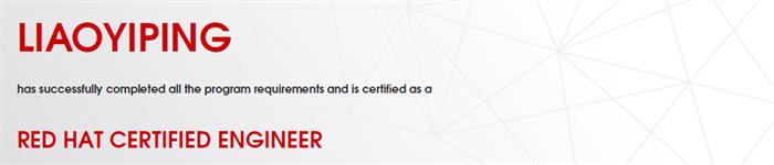 捷讯:廖燚平9月21日广州顺利通过RHCE认证。