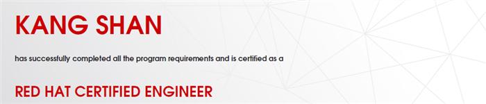 捷讯:康山10月24日上海顺利通过RHCE认证。