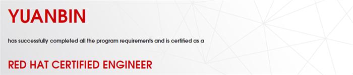 捷讯:原斌10月24日北京顺利通过RHCE认证。