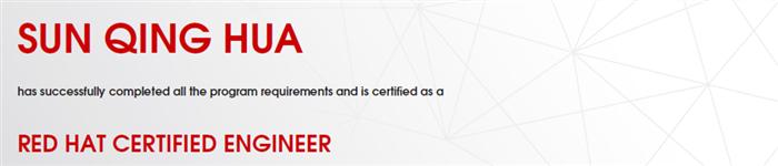 捷讯:孙庆华11月18日上海顺利通过RHCE认证。