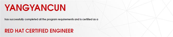 捷讯:杨彦存11月29日北京顺利通过RHCE认证。