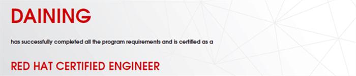 捷讯:戴宁11月22日上海顺利通过RHCE认证。