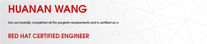 捷讯:汪华南11月25日上海顺利通过RHCE认证。