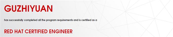 捷讯:顾志远11月1日上海顺利通过RHCE认证。