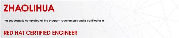 捷讯:赵丽华11月28日北京顺利通过RHCE认证。