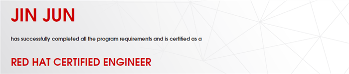 捷讯:金俊12月21日上海顺利通过RHCE认证。