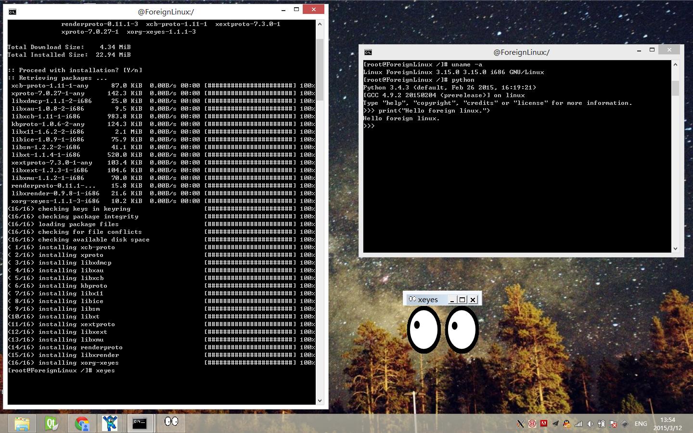 Windows 运行 Linux程序Windows 运行 Linux程序