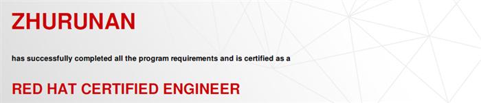 捷讯:朱润谙1月19日上海顺利通过RHCE认证。