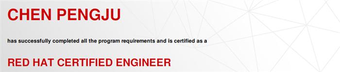 捷讯:陈鹏举1月16日北京顺利通过RHCE认证。