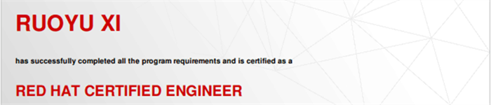 捷讯:奚若愚1月16日上海顺利通过RHCE认证。