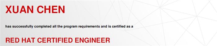 捷讯:陈轩2月1日北京顺利通过RHCE认证。