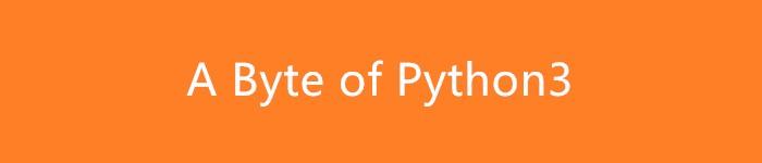 《A Byte of Python3(简明Python中文版)》pdf电子书免费下载