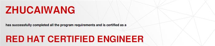 捷讯:朱望财4月10日上海顺利通过RHCE认证。