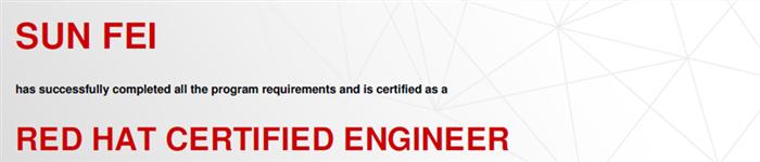 捷讯:孙斐4月25日北京顺利通过RHCE认证。