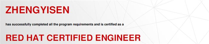 捷讯:郑义森4月27日广州顺利通过RHCE认证。