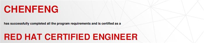 捷讯:陈峰4月27日广州顺利通过RHCE认证。