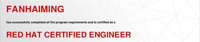 捷讯:范海明5月9日北京顺利通过RHCE认证。