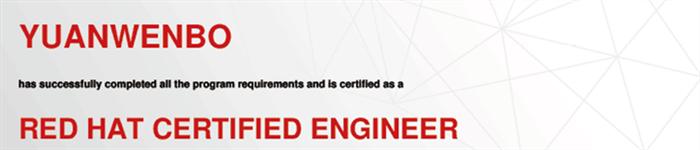 捷讯:苑文博5月23日北京顺利通过RHCE认证。