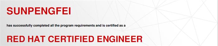捷讯:孙鹏飞5月15日北京顺利通过RHCE认证。