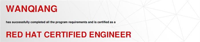 捷讯:万强5月26日上海顺利通过RHCE认证。