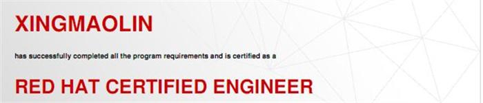 捷讯:邢茂林5月27日上海顺利通过RHCE认证。