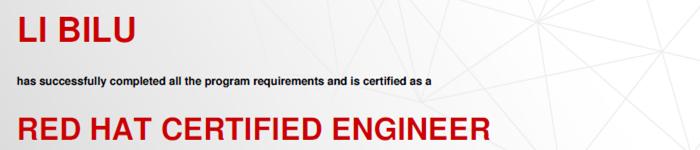 捷讯:李壁鲁6月23日北京顺利通过RHCE认证。