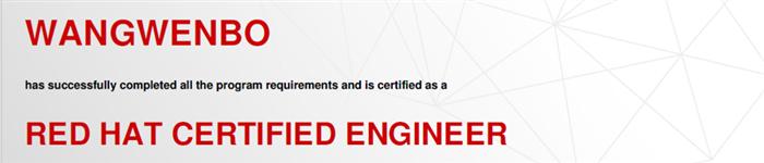 捷讯:王文博6月24日北京顺利通过RHCE认证。
