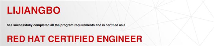 捷讯:李江波6月24日北京顺利通过RHCE认证。