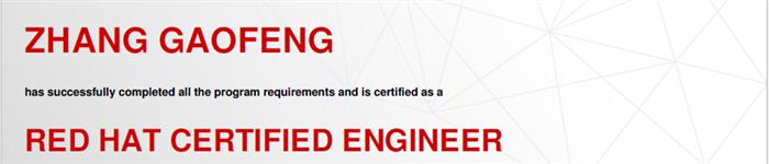 捷讯:张高峰7月21日深圳顺利通过RHCE认证。
