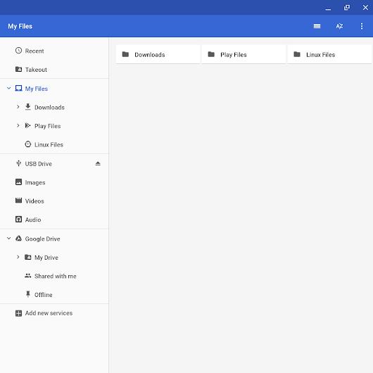 Chrome OS的Files应用程序支持查看Android和Linux文件Chrome OS的Files应用程序支持查看Android和Linux文件